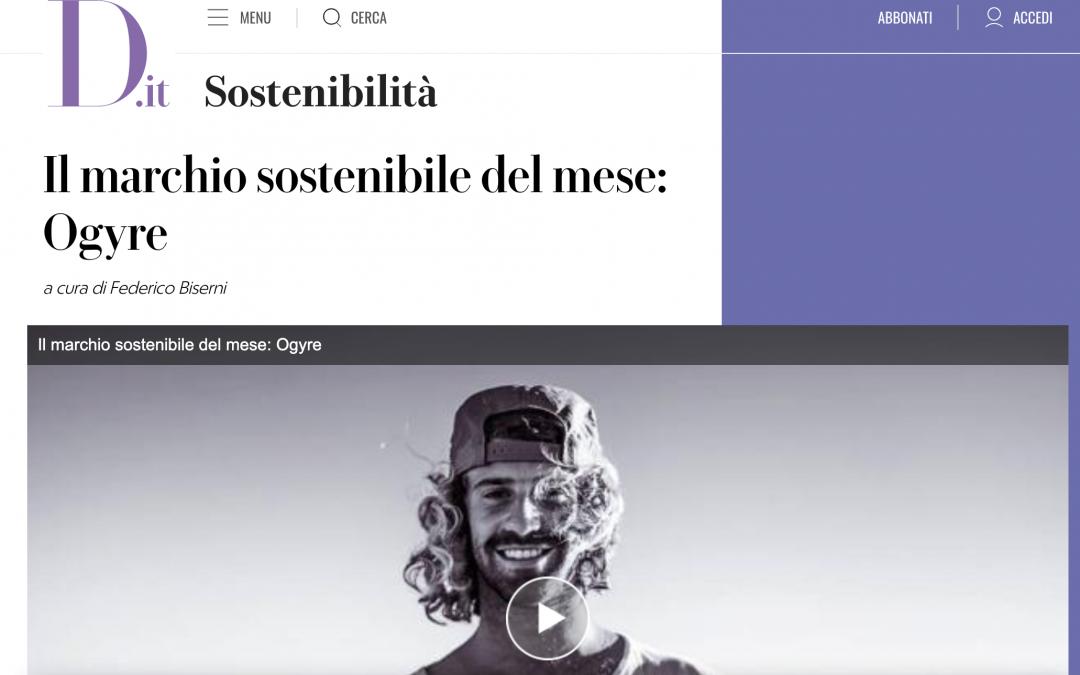 D.it – il marchio sostenibile del mese: Ogyre